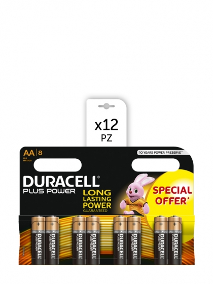Duracell, Batterie Duracell Plus Power AA 8x12pz