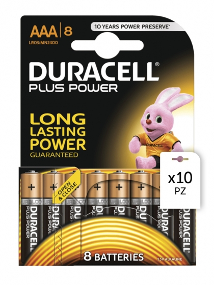Acquista Batterie Duracell Plus Power AAA 8x10pz