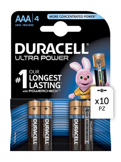 Duracell, Batterie Duracell Ultra Power AAA 4x10pz