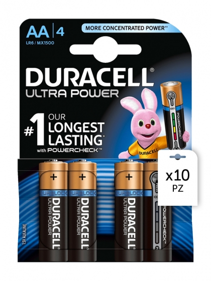 Duracell, Batterie Duracell Ultra Power AA 4x10pz