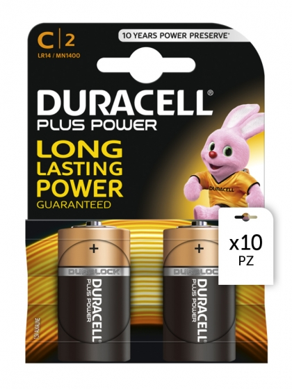 Duracell, Batterie Duracell Plus Power C 2x10pz