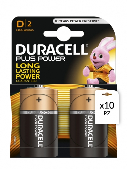 Duracell, Batterie Duracell Plus Power D 2x10pz