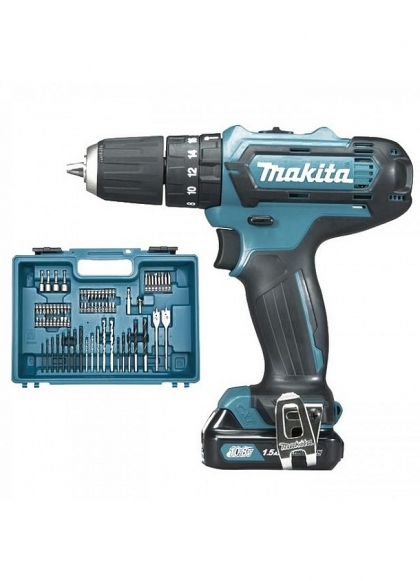 Makita, Trapano Avvitatore Makita HP331DSAX1 con 74 Accessori